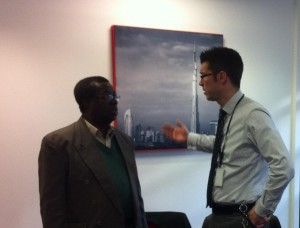 HSBC manager talks to one of our students